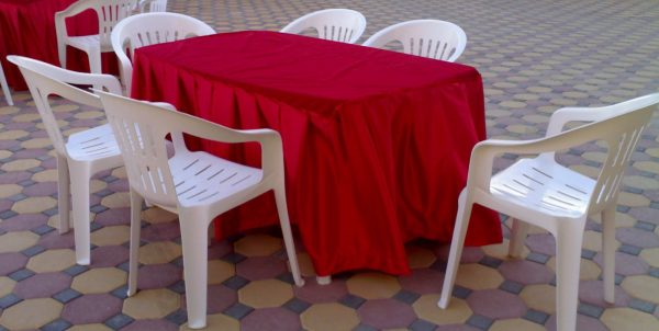 table and chairs rental