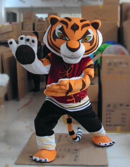 kungfoo tiger Cartoon Mascots